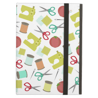 Retro Sewing Themed iPad Case With Kickstand