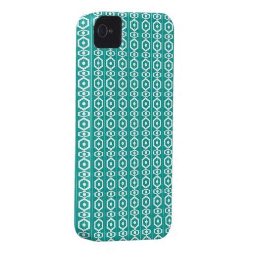 Retro Shape Turquoise iPhone 4 Cover