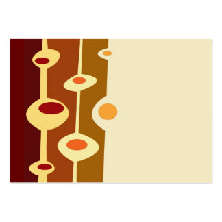 retro shapes brown yellow orange business cards