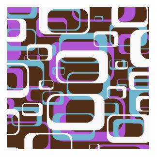 Retro Shapes Pattern Standing Photo Sculpture