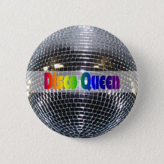 Retro Shiny Silver Mirror Disco Ball Disco Queen 6 Cm Round Badge
