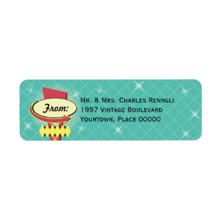 Retro Sign Return Address Return Address Label