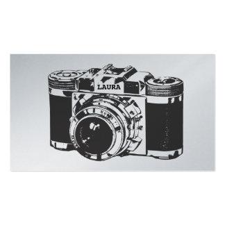 Retro Silver Camera Photographer Business Cards