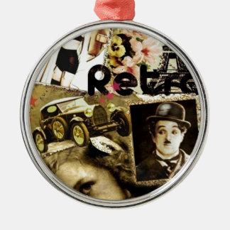Retro Silver-Colored Round Decoration