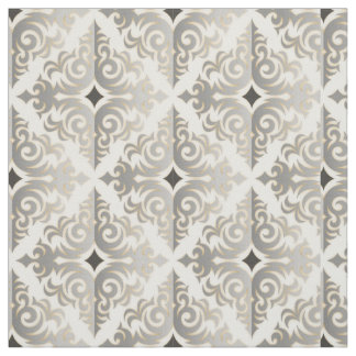 Retro Silver Vonster Pattern Fabric