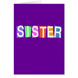 Retro Sister Greeting Card