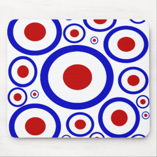 Retro sixties mod target circles mousepad