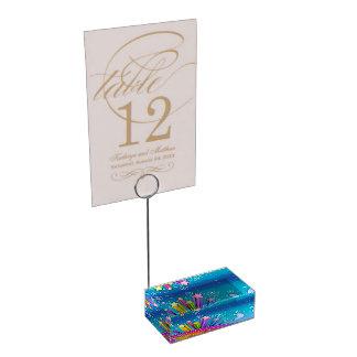 RETRO SIXTIES POP ART SKY TABLE CARD HOLDER