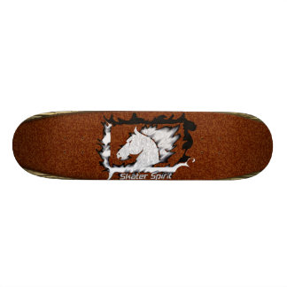 #Retro Skate with wood sample+Bordeaux color 18.1 Cm Old School Skateboard Deck