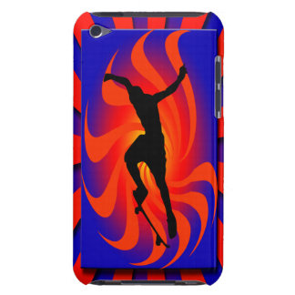 Retro Skateboarder Barely There iPod Cases
