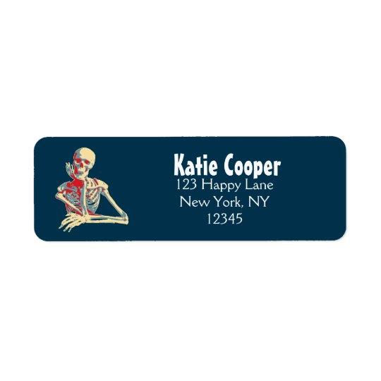 Retro Skeleton Return Address Label