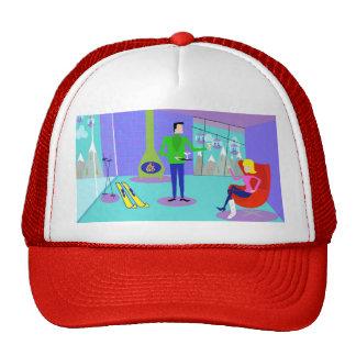 Retro Ski Vacation Trucker Hat