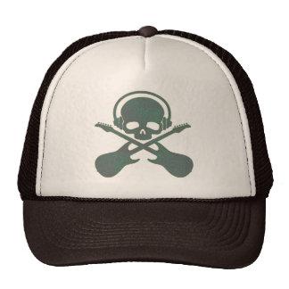 RETRO SKULL AND GUITARS MESH HATS