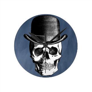 Retro Skull Head Round Clock