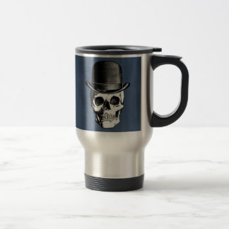 Retro Skull Head Travel Mug