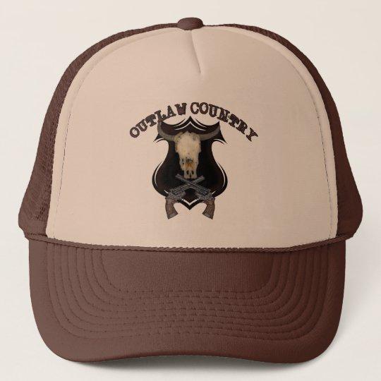 Retro Skull Revolver Guns Western Outlaw Country Trucker