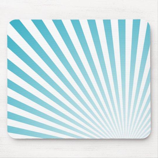 Retro Sky blue Sun Rays Background Mouse Mat