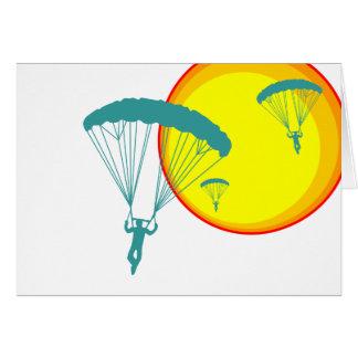 retro sky divers greeting card