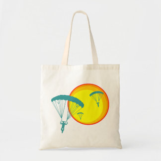 retro sky divers tote bag