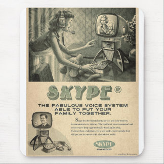 Retro Skype Social Media Ad by Send My Love Mouse Mat