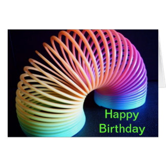 Retro Slinky Birthday Card personalise
