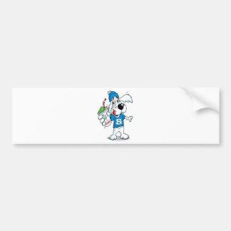 Retro Slush Dog Bumper Sticker