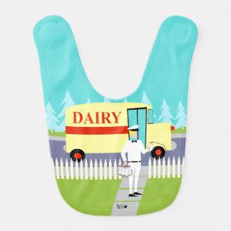 Retro Small Town Milkman Baby Bib
