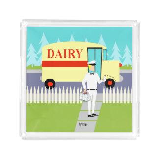 Retro Small Town Milkman Serving Tray