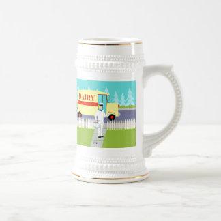 Retro Small Town Milkman Stein Beer Steins