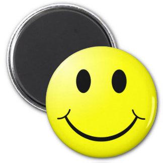 Retro Smiley 6 Cm Round Magnet