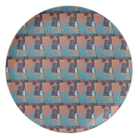 Retro Smoothie #1 Melamine Plate
