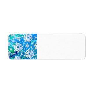 Retro Snow Address Labels