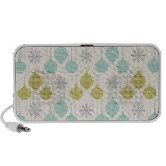 Retro snowflake and ornament -portable speaker