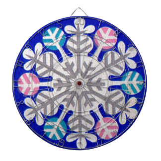 Retro Snowflake Dartboard
