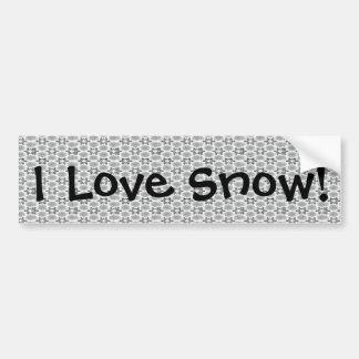 Retro Snowflake Floral Black White Bumper Stickers