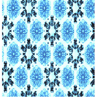 Retro Snowflake Floral Blue Standing Photo Sculpture