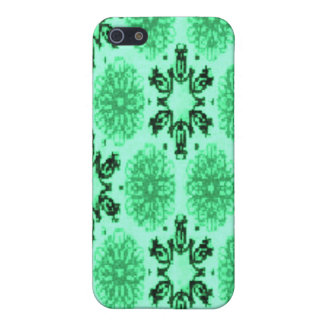 Retro Snowflake Floral Green iPhone 5 Case