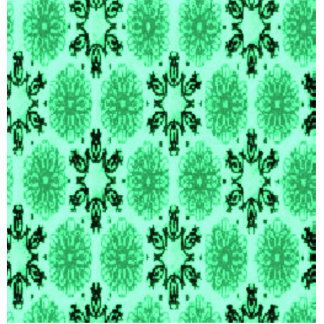 Retro Snowflake Floral Green Cut Out