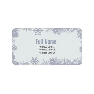 Retro snowflakes 1 christmas labels