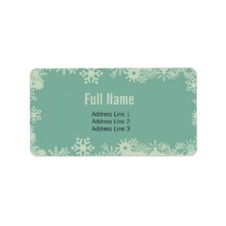 Retro Snowflakes 3 christmas labels