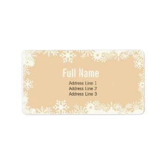 Retro Snowflakes 4 christmas labels