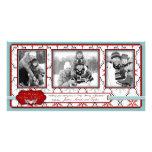 Retro Snowflakes Photo Card Trio