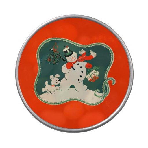 Retro Snowman Jelly Belly Tin