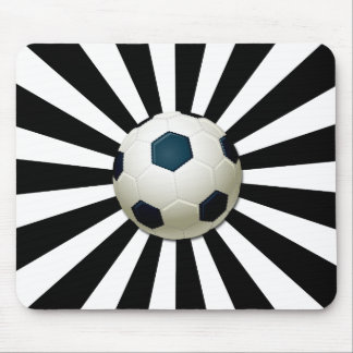 RETRO SOCCER BALL MOUSE PAD