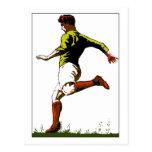 Retro soccer football vector art design postcard