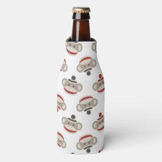 Retro Sock Monkey Bottle Cooler