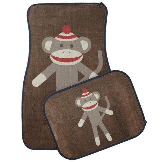 Retro Sock Monkey Car Mat