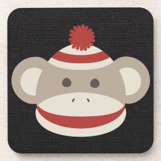 Retro Sock Monkey Coaster