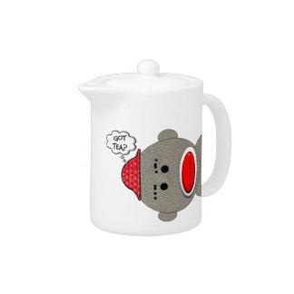Retro Sock Monkey Teapot