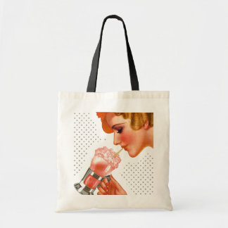 RETRO SODA FOUNTAIN DOING THE TOWN ~ SHOPPING TOTE BAGS